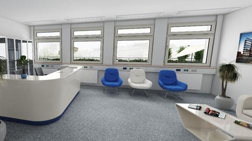 3D View Büro am Schweizergarten