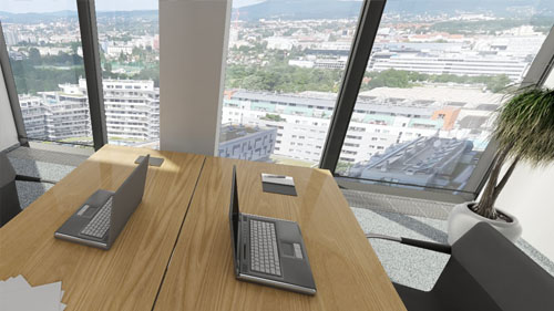 3D View Business Park Vienna